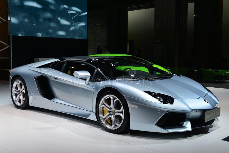 Lamborghini Aventador supercar obrazy royalty free