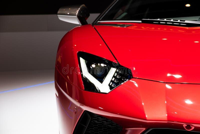 Lamborghini Aventador SV sportbil fotografering för bildbyråer