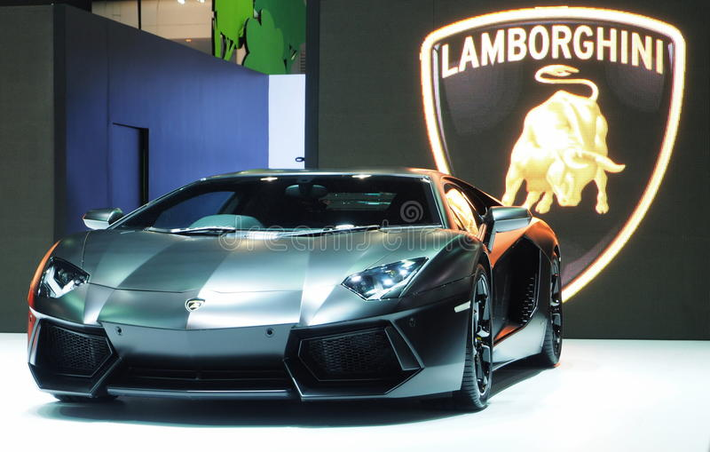 Lamborghini Aventador At The 36th Bangkok International Motor Show