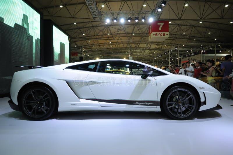 Lamborghini blanco, Gallardo LP 570-4 Superleggera foto de archivo libre de regalías