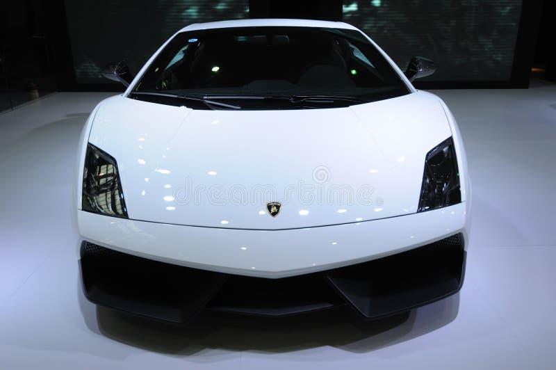 Lamborghini blanco, Gallardo LP 570-4 Superleggera fotografía de archivo libre de regalías