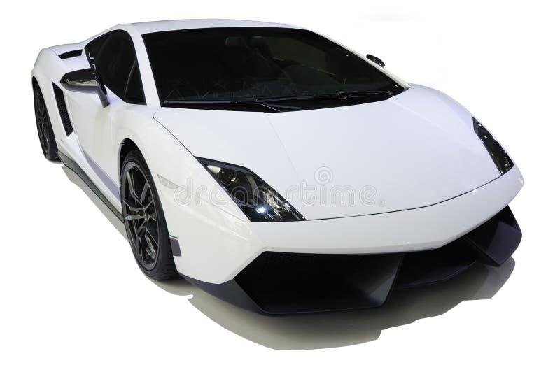 Lamborghini branco, Gallardo LP 570-4 Superleggera foto de stock royalty free