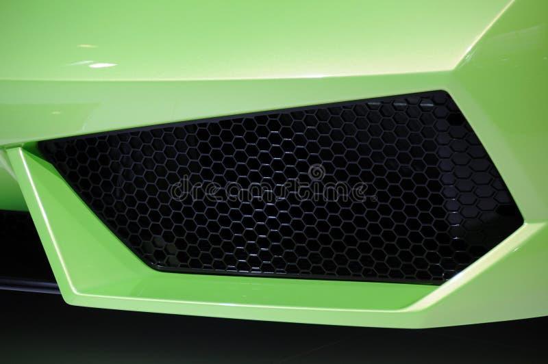 Lamborghini car air intake. Detail of a sport car air intake stock images
