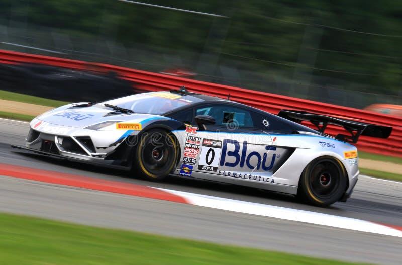 Lamborghini Gallardo赛车 图库摄影