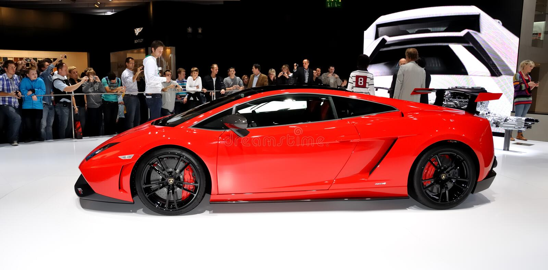 Lamborghini Gallardo en IAA Francfort 2011 imagen de archivo
