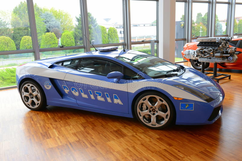 Lamborghini Gallardo Polizia 免版税库存照片