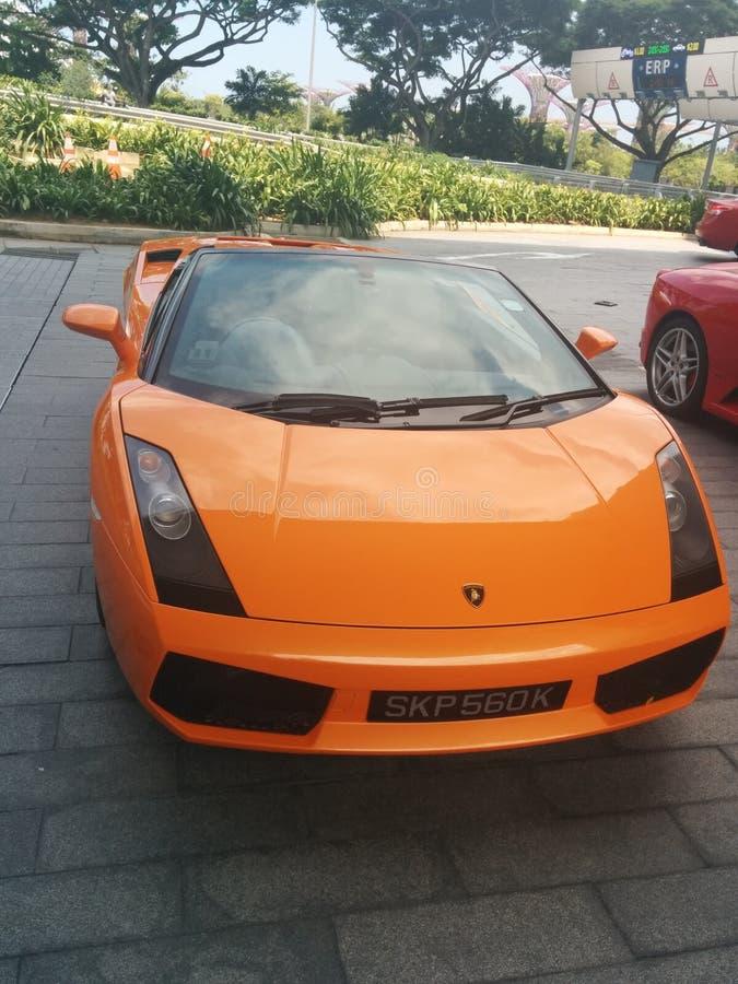 Lamborghini Gallardo Spyder Singapore royalty-vrije stock afbeeldingen