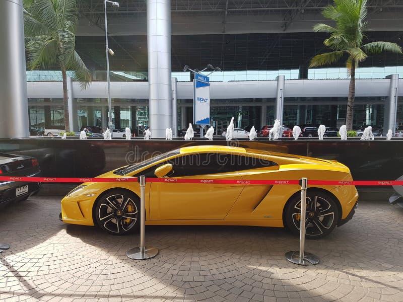 Lamborghini Gallardo Squadra Corse小轿车黄色 免版税库存图片