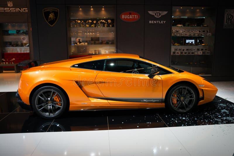 Lamborghini Gallardo Superleggera跑车 免版税图库摄影