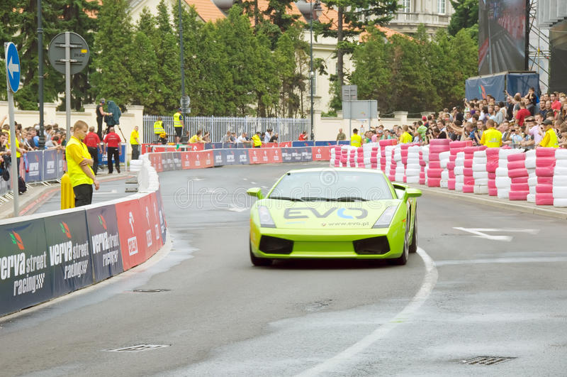 Lamborghini Gallardo at Verva Street Racing 2011 stock photo