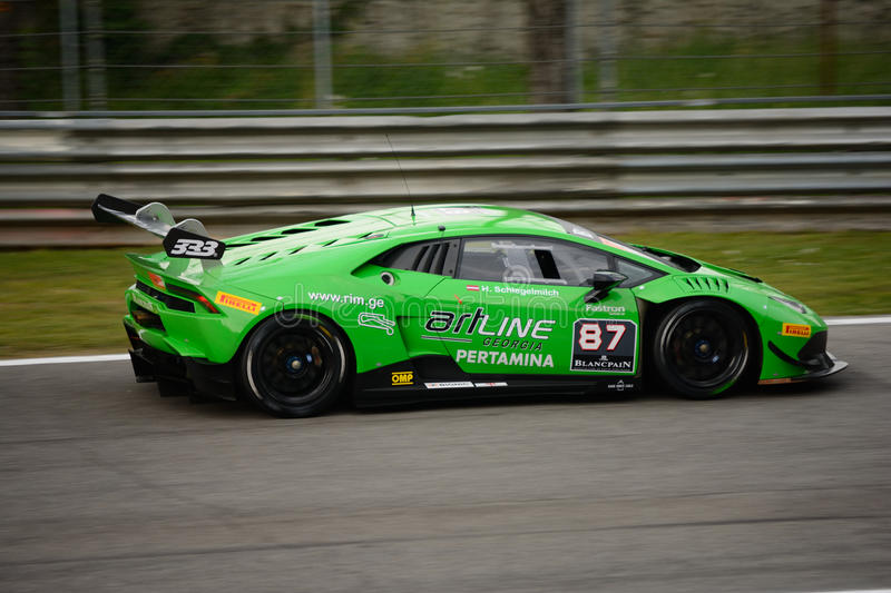 Download Lamborghini Huracán Super Trofeo Race At Monza Editorial Image    Image Of Corner, Competition