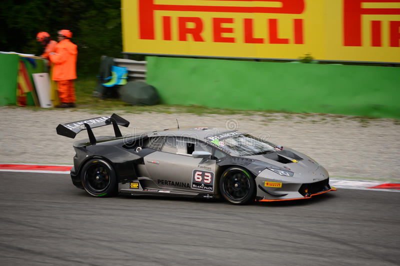 Download Lamborghini Huracán Super Trofeo Race At Monza Editorial  Photography   Image Of Corner, Brakes
