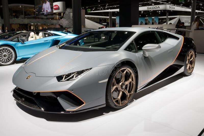 Lamborghini Huracà ¡ n Performante跑车 免版税库存图片