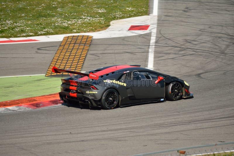 Lamborghini Huracà ¡ n LP 620-2超级Trofeo 库存图片