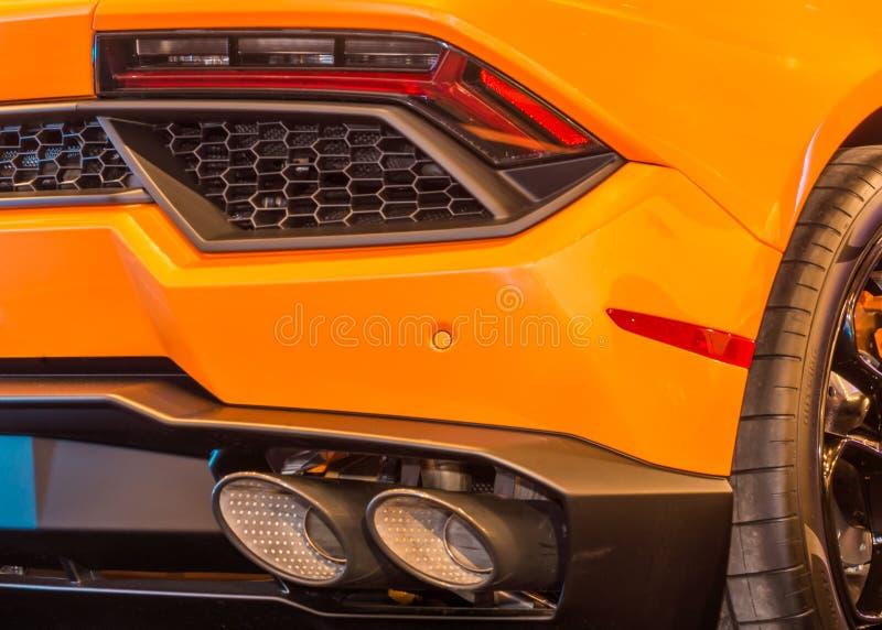 Lamborghini Huracan尾气 库存图片