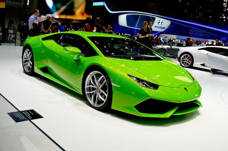 Lamborghini Huracan日内瓦2014年 免版税库存照片