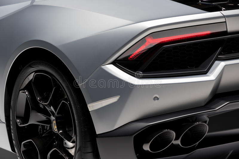 Lamborghini Huracan跑车 免版税库存图片