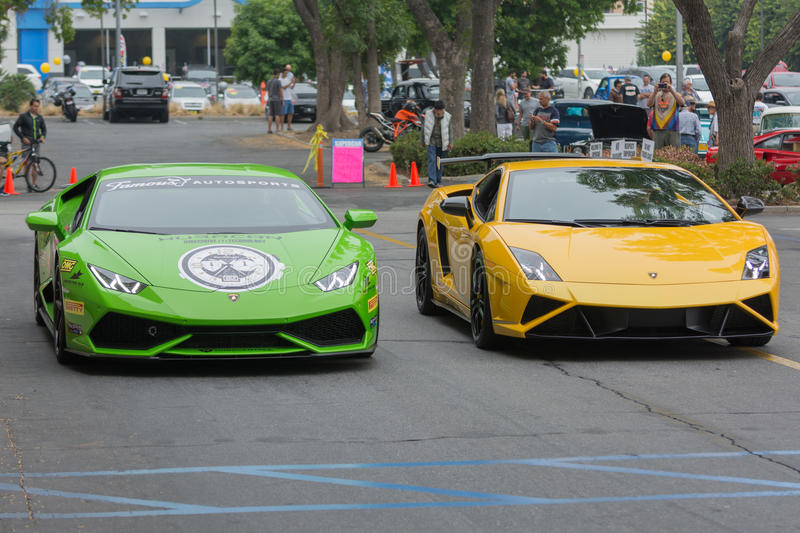 Download Lamborghini Huracan And Lamborghini Gallardo Car On Display  Editorial Stock Photo   Image Of Industry