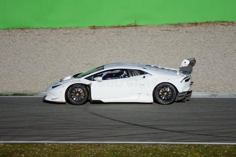 Lamborghini Huracan LP 620-2超级Trofeo 2015年 免版税图库摄影