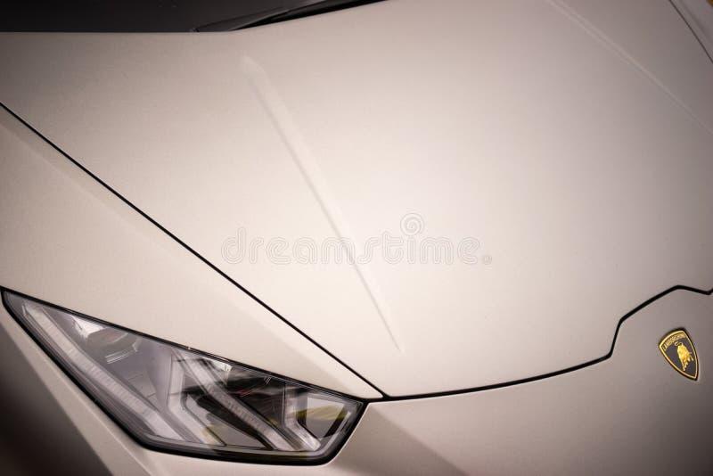 Lamborghini Huracan LP640 Performante特写镜头 免版税库存图片