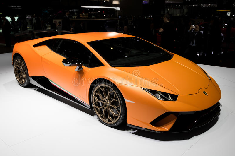 Lamborghini Huracan Performante跑车 库存照片