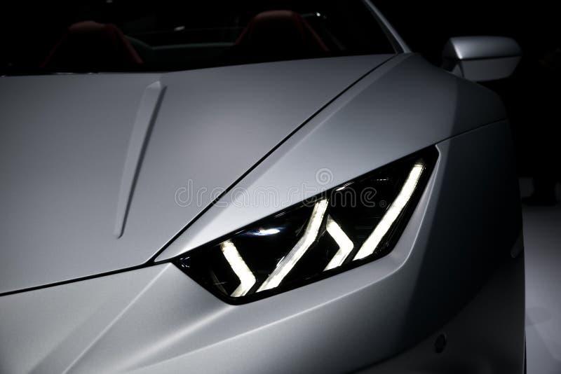 Lamborghini Huracan RWD Spyder跑车 免版税库存照片