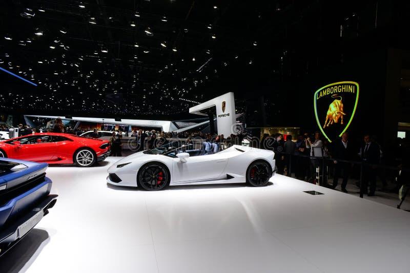 Lamborghini Huracan Spyder royalty-vrije stock afbeelding