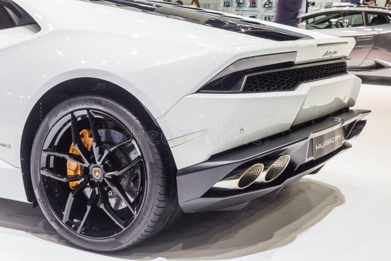 : Lamborghini Huracan, supercarro básico, mostrado em Tailândia t imagem de stock royalty free