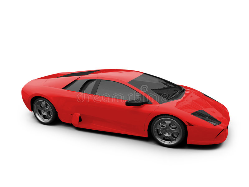Lamborghini isoleerde rood royalty-vrije illustratie