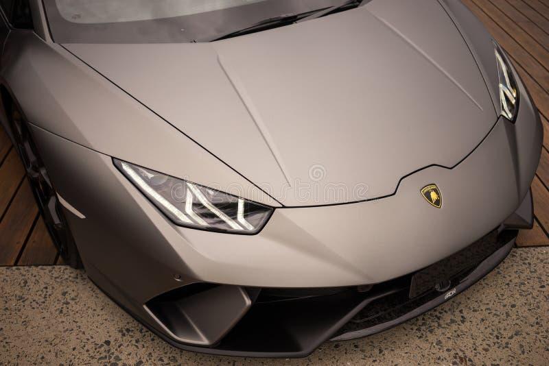 Grey Lamborghini Huracan LP640 Performante royalty free stock images
