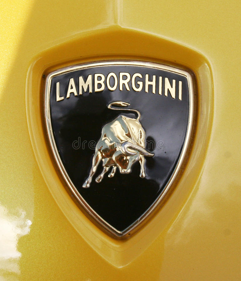 Lamborghini kapiszonu osłony odznaka obraz royalty free