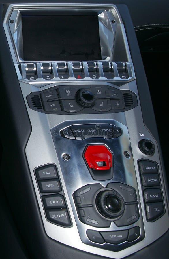Lamborghini kontrollbord royaltyfri foto