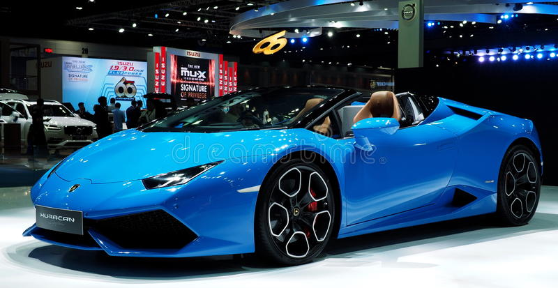 Lamborghini Huracán Spyder royalty free stock photo