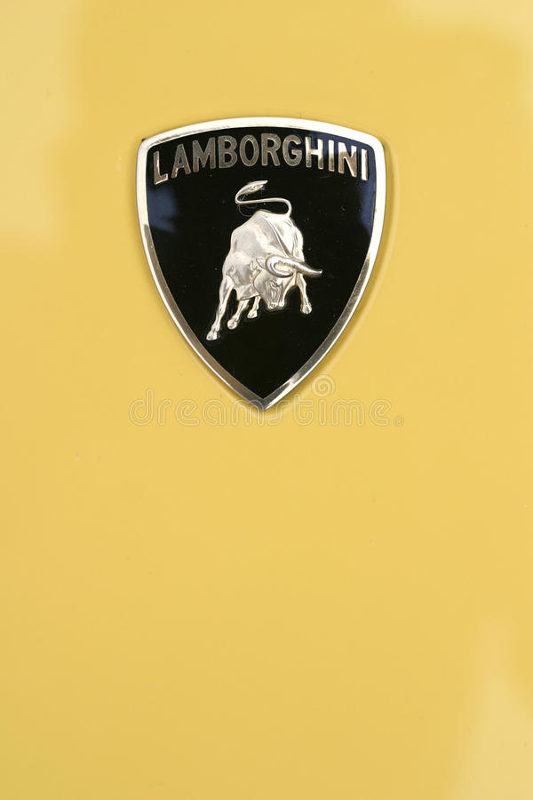 Lamborghini logo royalty free stock image