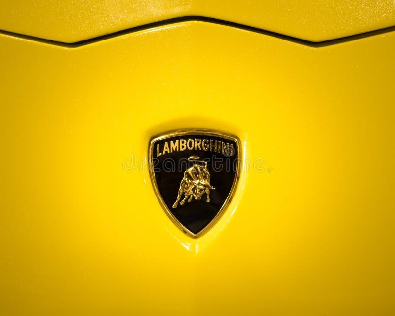 The Lamborghini Logo Shows A Bull Or Taurus Editorial Stock Image
