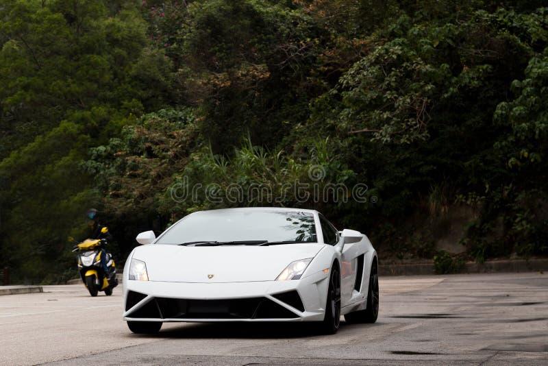 Lamborghini LP560-4超级汽车 免版税图库摄影