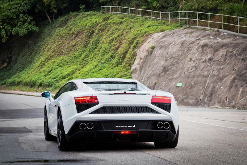 Lamborghini LP560-4超级汽车 免版税库存图片