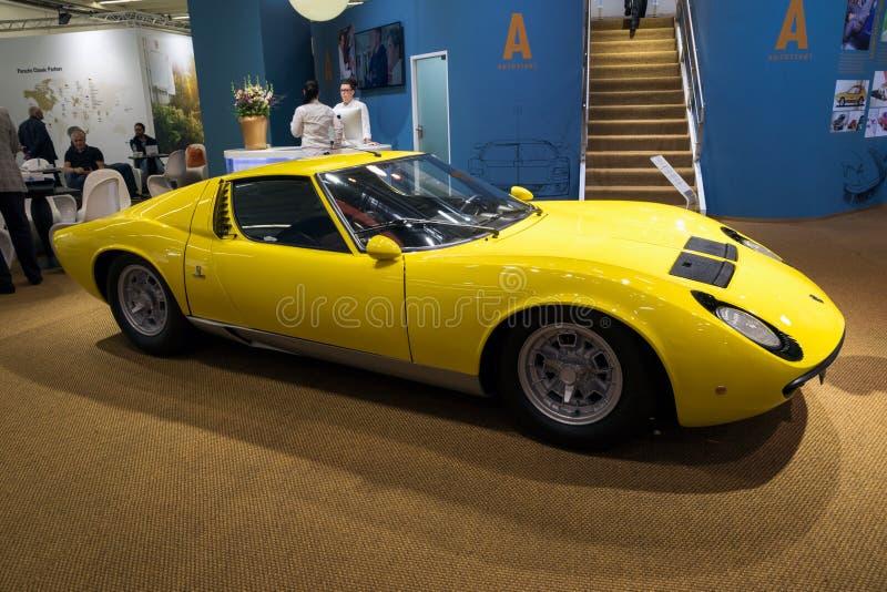 1967 Lamborghini Miura P400 rocznika sportów samochód zdjęcie royalty free