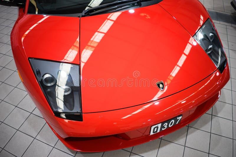 Lamborghini Mucielago Closeup Front Hood royalty free stock image