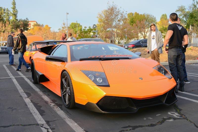 Lamborghini Murcielago sur l'affichage photographie stock