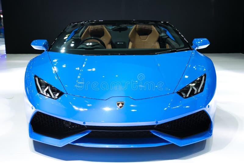 Lamborghini na exposição na exposição automóvel do International de Banguecoque foto de stock royalty free