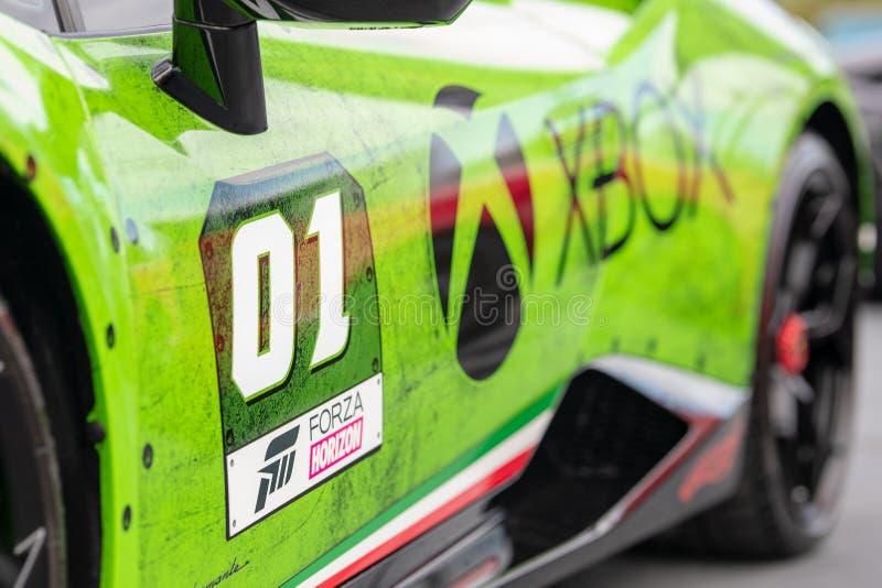 Lamborghini peint fait sur commande photographie stock libre de droits