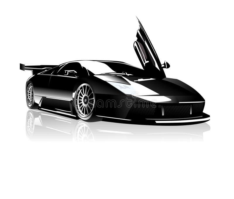 Lamborghini preto ilustração royalty free