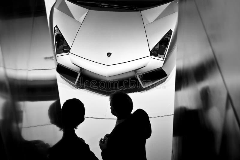 Lamborghini Reventon Roadster. IAA Frankfurt 2009 stock image