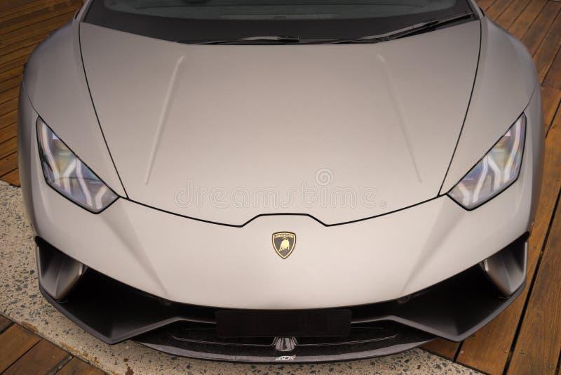 Lamborghini Sports Car Front View stock image