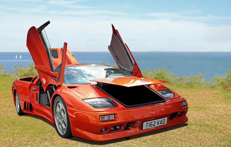 Lamborghini sportscar стоковое фото rf