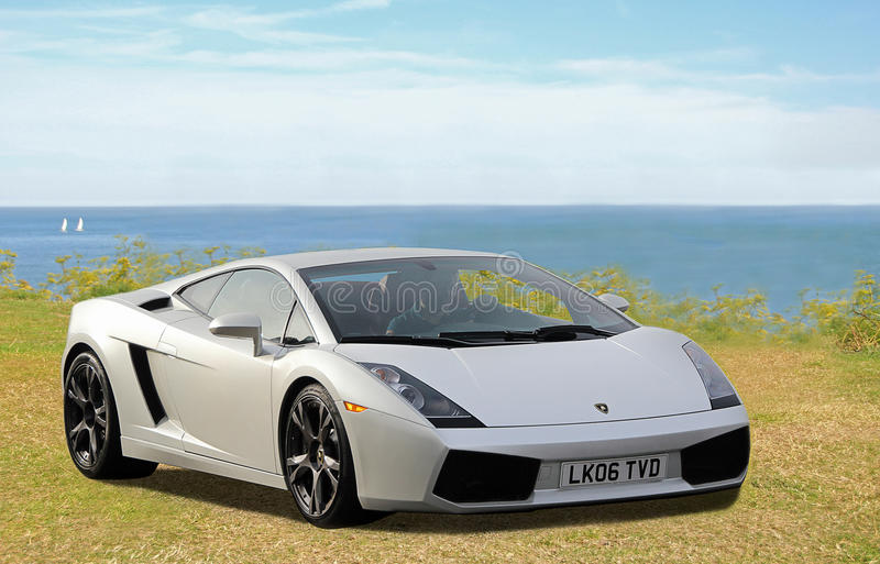 Lamborghini sportscar stock image