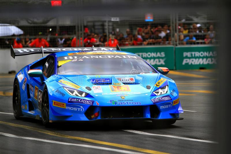 Lamborghini Super Trofeo KL City Grand Prix royalty free stock image