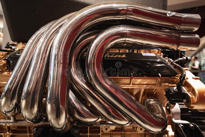 Lamborghini V12小船引擎 免版税库存照片