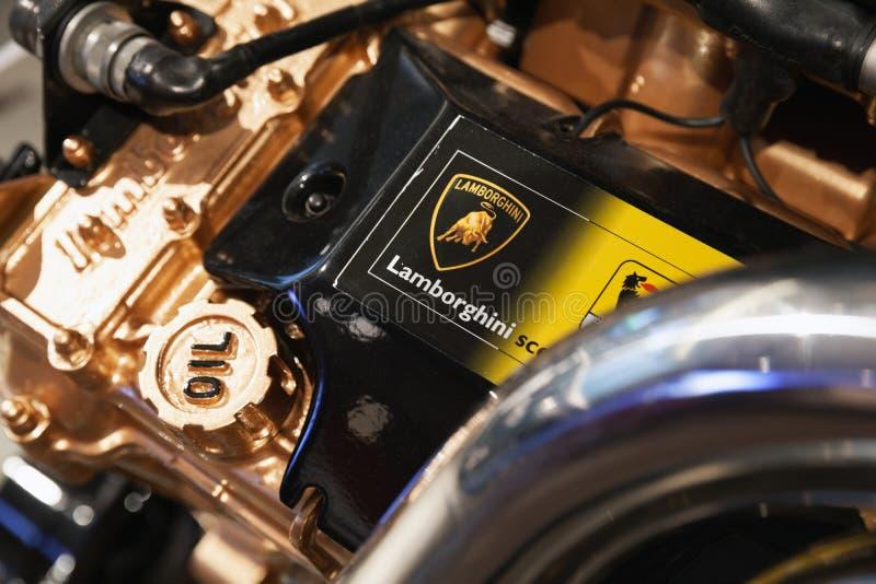 Lamborghini V12引擎同水准 免版税库存图片